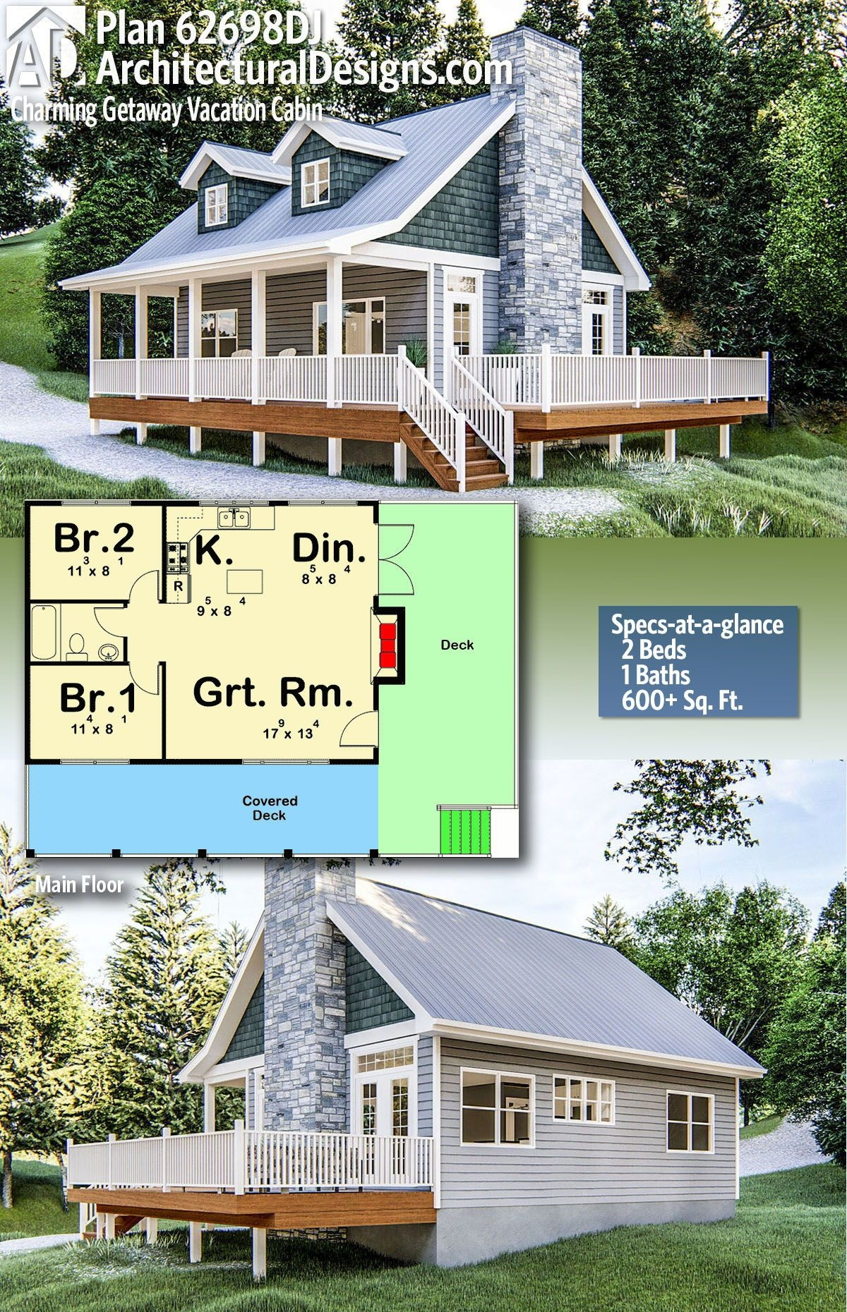 Nice-looking Small Rustic Cabin Plans On Incredible Plan Dj Charming Getaway Vacation Cabin On Small Rustic Cabin Plans