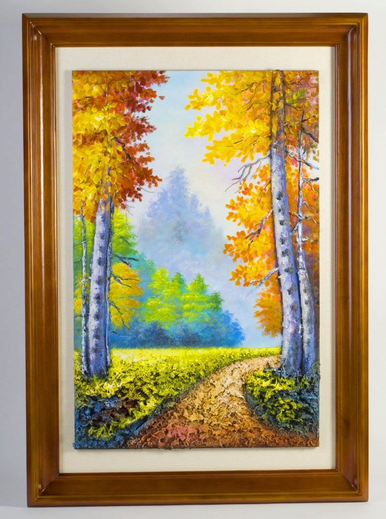 Nice-looking Cheap Art Prints On Irresistible forest Walk Handscupltured 3d Oil Paintings Size Inches On Cheap Art Prints