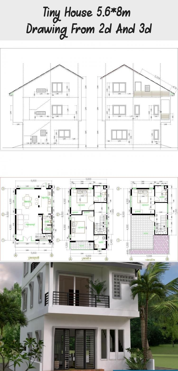 Magnificent 3d Room Drawing On Lovely Tiny House 5 6 8m – Drawing From 2d and 3d – Samphoas Plan On 3d Room Drawing
