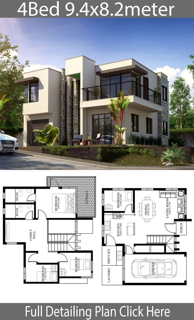 Wonderful Best Modern House Design 2019 On Nice-looking Small Home Design Plan 9 4x8 2m with 4 Bedrooms In 2019 On Best Modern House Design 2019