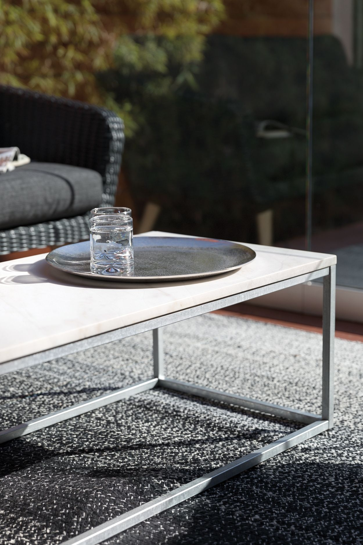 Fanciable Glass Contemporary Coffee Table On Prodigious Suited to Your Upscale Apartment or Your Rooftop Patio the On Glass Contemporary Coffee Table