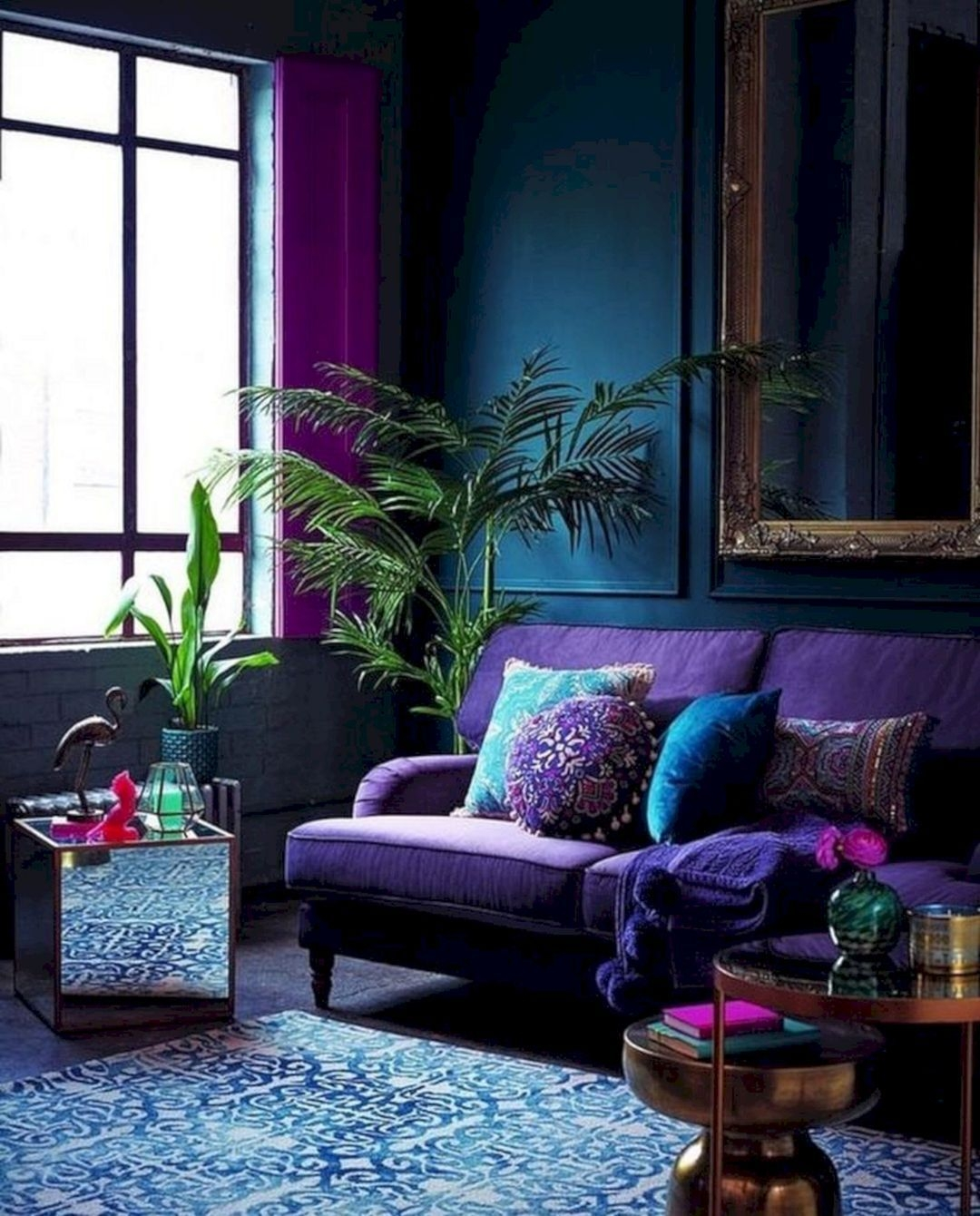 Extraordinary Home Decor Ideas Living Room Modern Boho area Rug with Plum Accents On Stunning 15 Gorgeous Living Room Green Purple Interior You Need to On Home Decor Ideas Living Room Modern Boho area Rug with Plum Accents