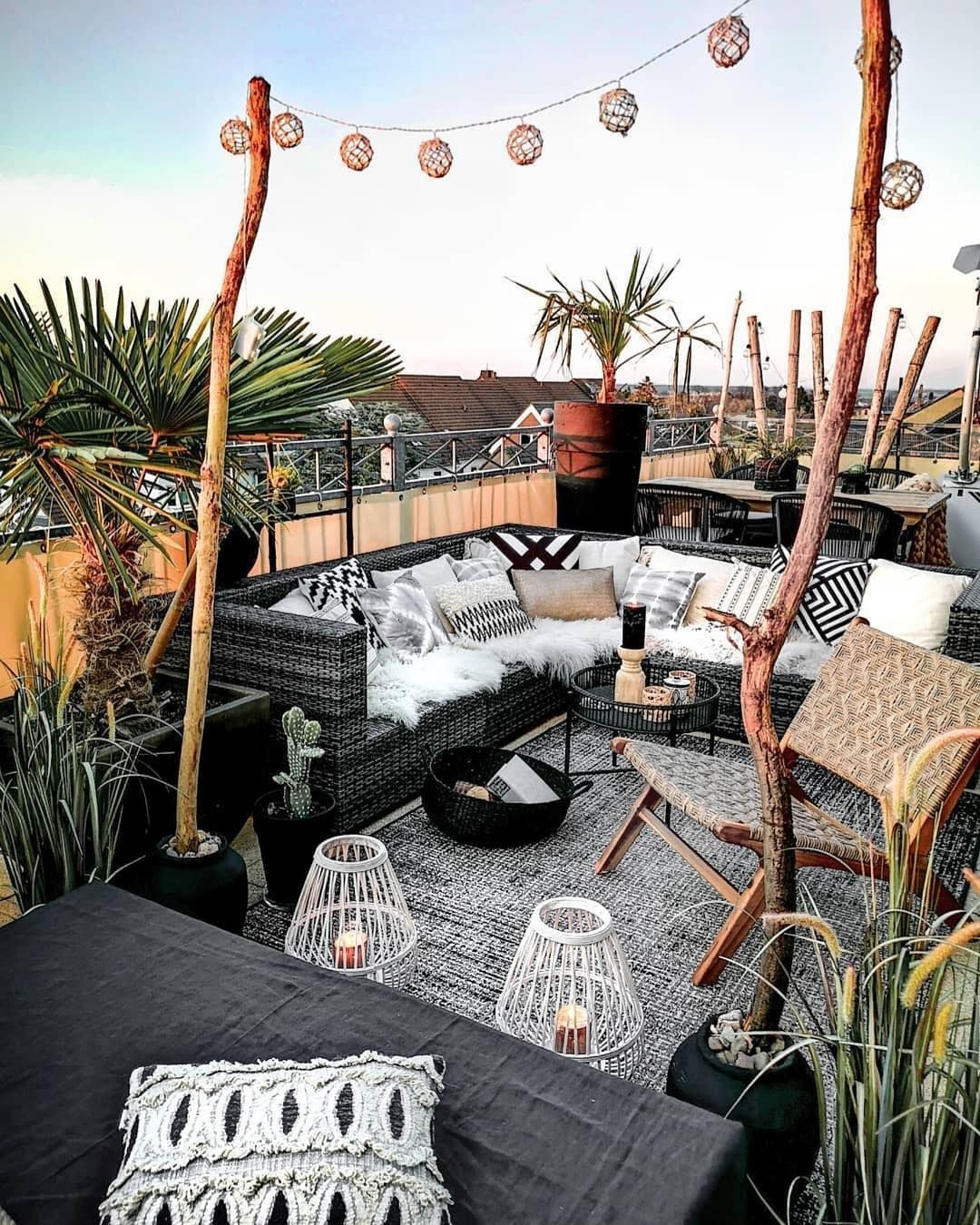 Lovely Terrace with Bohemian Styles On