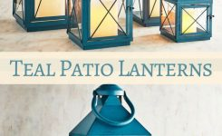 patio decor ideas with teal color