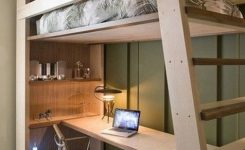30+ Bunk Beds Design Ideas With Desk Areas Help To Make Compact Bedrooms Bigger 12