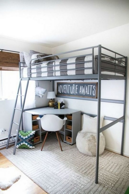 Permalink to 34 Bunk Bed Design Ideas With the Most Enthusiastic Desk In Interest