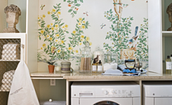 laundry room wall covering ideas
