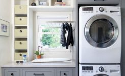 rustic farmhouse laundry room ideas for hanging clothes