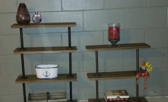 84 Inspiring Plumbing Pipe Shelves Decoration Models 21