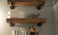 88 wood shelves with metal brackets new reclaimed barn wood bathroom shelves home design