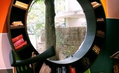 89 Models Beautiful Circular Bookshelf Design For Complement Of Your Home Decoration 17