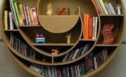 89 Models Beautiful Circular Bookshelf Design For Complement Of Your Home Decoration 3