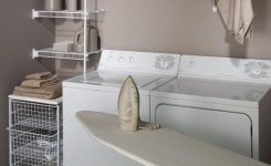 laundry room organizers and shelves