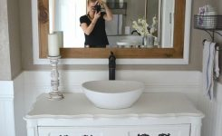 Modern Farmhouse Bathroom Review Of Chalk Painted Vanities By