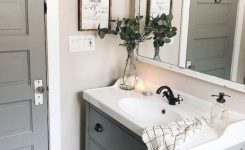 60 Fantastic Farmhouse Bathroom Vanity Decor Ideas And Remodel 1 In