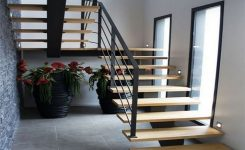 95 Cool Modern Staircase Designs For Homes (26)