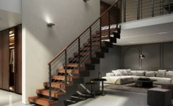95 Cool Modern Staircase Designs For Homes (74)
