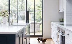 modern farmhouse paint interior colors blue and white