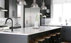 Beautifull Totally Modern Black And White Kitchen 32