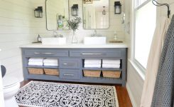 farmhouse colors for bath cabinets that look