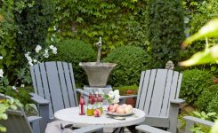 small patio decor ideas curtains and lights