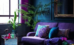 interior design color combination ideas for green sofa