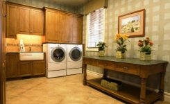 rustic farmhouse laundry room ideas cabinets