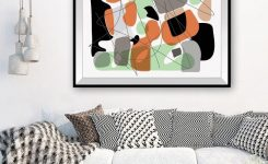Amazing Living Room Wall Decor Wall Art Modern Posters Abstract Line On Living Room Wall Art Pictures