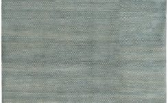 """Amazing Modern Blue and White Architectural Persian Wool Carpet """"10 On Living Room Rugs 10×14"""
