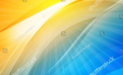 Amazing Sun and Wave Abstract Digital Modern Bright Color Shiny On List Bright Colors Background