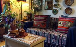Artistic Bohemian Home Decor Design On Bohemian Home Decorating Images