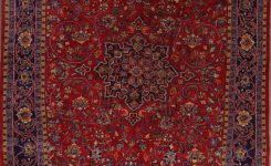 Artistic Floral Red Sarouk Persian area Rug 9×12 On Rugs for Living Room 9×12