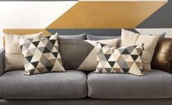 Awe-inspiring 33 Cool Geometric Living Room Design Ideas to Rock On Living Room Wall Art Pictures
