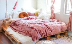 Awe-inspiring 50 Adorable Pallet Bed Ideas You Will Love Crafome On Boho Bedroom Furniture Sets