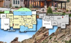 Awe-inspiring Plan Rw Modern Mountain Beauty with Optional Lower On Mountain House Plans with Angled Garage