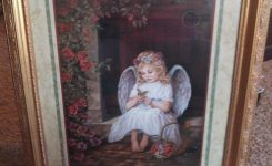 Beaut Home Interior Angel Portrait In arey S Garage Sale In On Home Interiors and Gifts Catalog