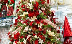 Beauteous Christmas Palace On Artificial Christmas Trees