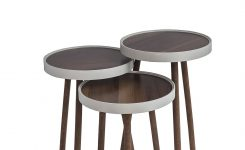 Beauteous Nesting End Tables by Ella Corner Stacking Brown Round Tea On 36 Round Glass Coffee Table