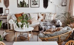 Charming Cozy Living Room with White Interior and Bohemian Style is On Home Decor Ideas Living Room Boho Bohemian Style Living Room Design Ideas Photos