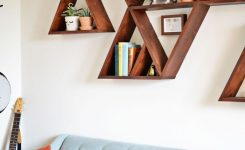 Charming Diy Triangle Shelf Whimsy Darling On Cool Wall Art for Living Room Ideas