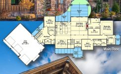 Charming Plan Rw Luxurious Mountain Ranch Home Plan with Lower On Mountain House Plans with Angled Garage