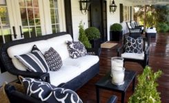 black and white patio decor ideas