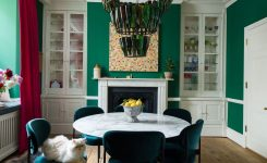 Comely A Renovated Home In London is Full Of Stunning Color On Boho Modern Living Room Green Carmel White