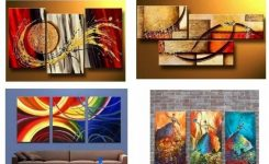 Comely Extra Large Hand Painted Art Paintings Paintings for Living On Modern Artwork for Living Room