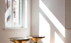 Decorative Classicon Bell Side Table In Brass and topaz Yellow by On 72 Inch Long Coffee Tables