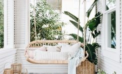 Decorative Patio Swing Boho Style Home Style On Terrace with Bohemian Styles