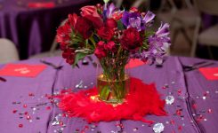 Decorative Red and Purple Wedding Recption Decorations On Red Wedding Decor Ideas