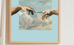 Delightful Hand Print Wall Painting without Frame On Picture Frames for Wall Art