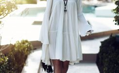 Delightful the White Hippie Dress On Boho Chic Boutique Online