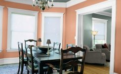 best colors for living and dining rooms in peach color